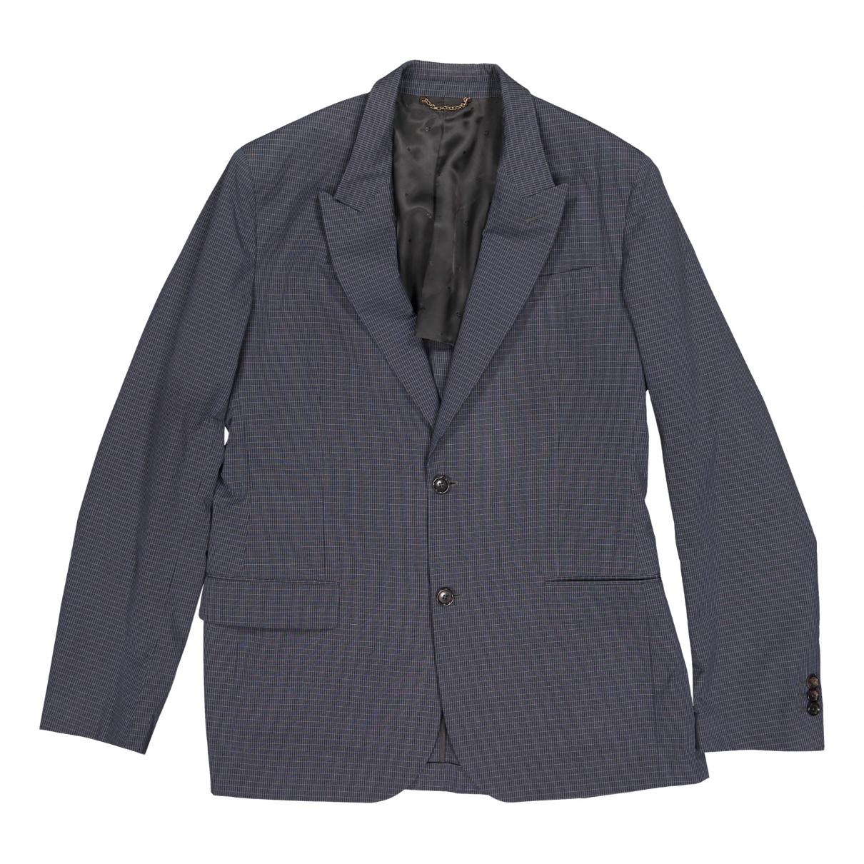 Louis Vuitton \N Jacke in  Marine Baumwolle