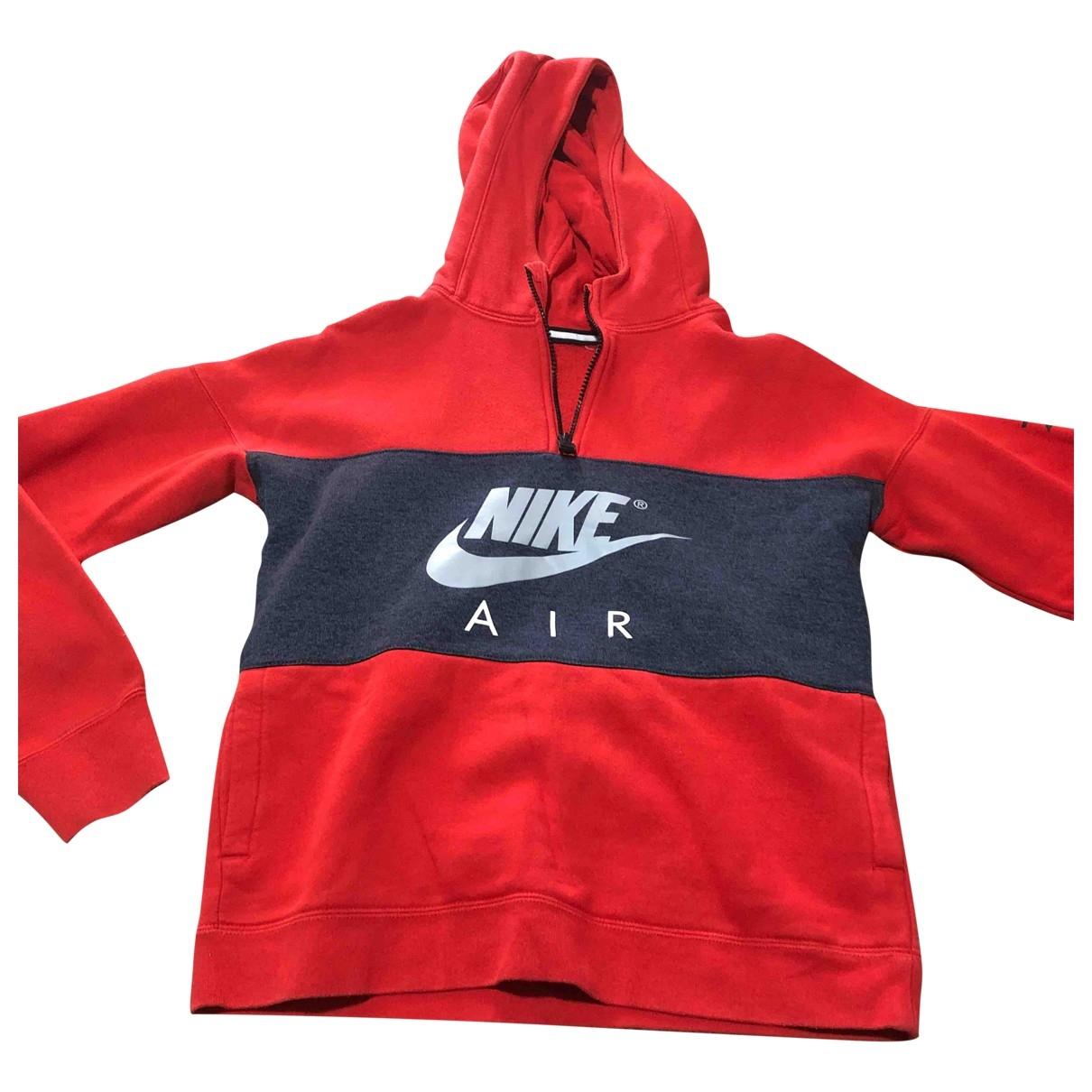 Nike \N Pullover, StrickJacke in  Rot Baumwolle