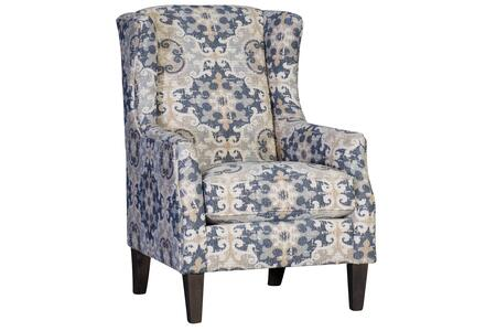 Halen Collection 398840F40-CH-BS 39 Chair with Wingback  Tapered Legs  Removable Cushions  Fabric Upholstery in Blue