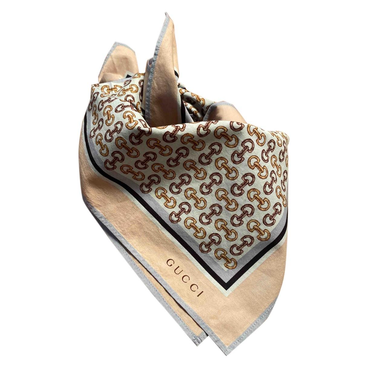 Gucci \N Tuecher, Schal in  Beige Baumwolle