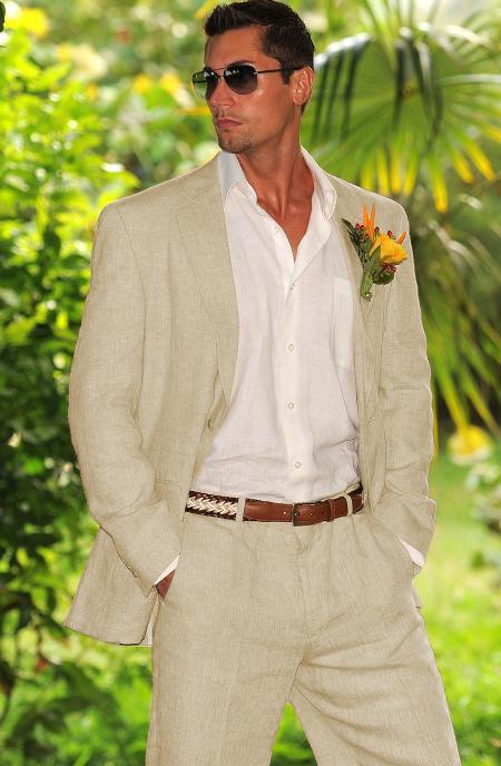 Men's Taupe 1 Linen Suit in Mens & Boys Sizes