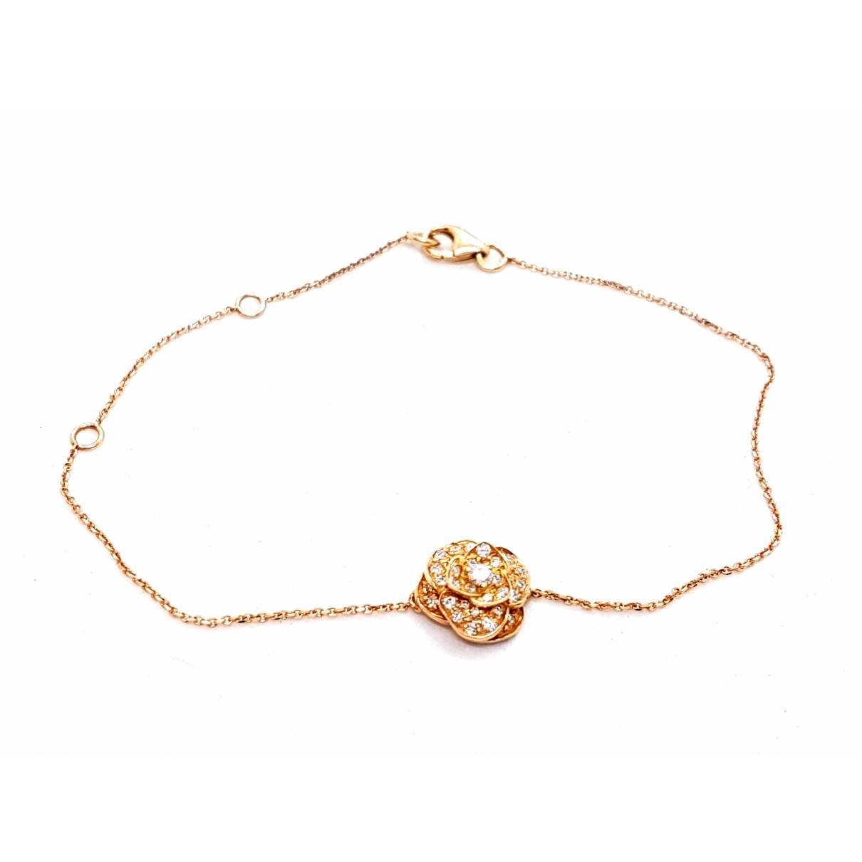 Non Signe / Unsigned Motifs Floraux Armband in  Rosa Rosegold
