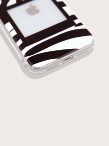 Zebra Stripe Pattern iPhone Case