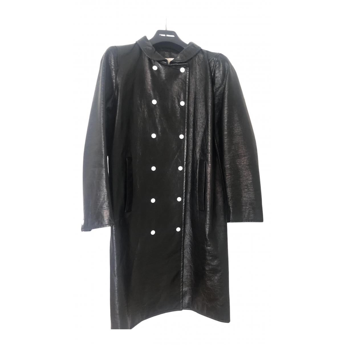 Courreges - Manteau   pour femme - noir