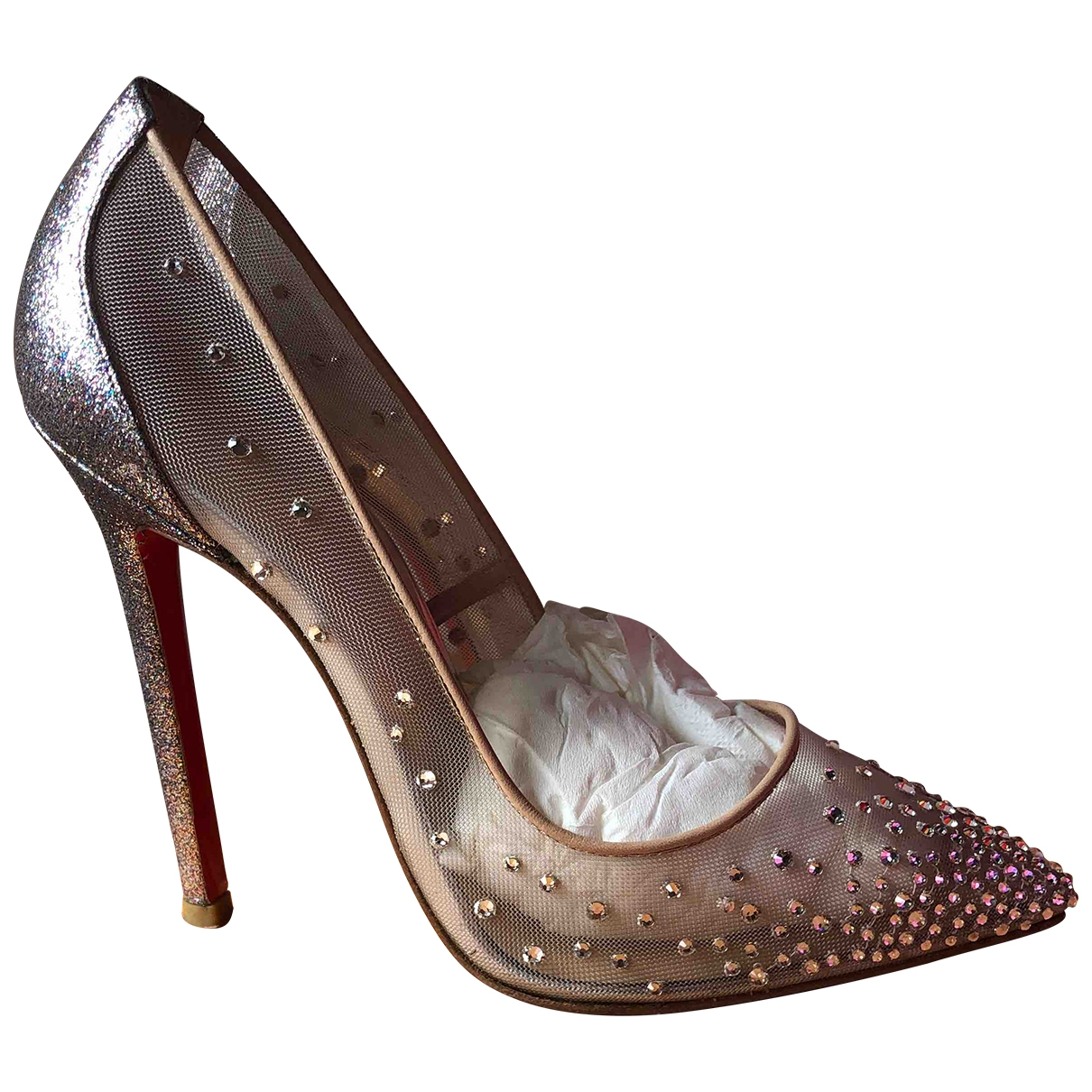 Christian Louboutin \N Pumps in  Metallic Leinen