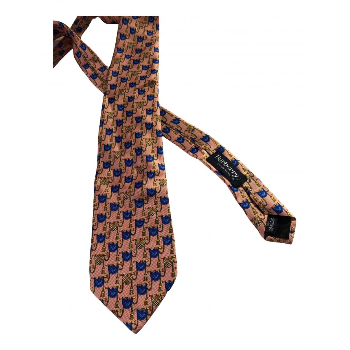 Burberry \N Krawatten in  Rosa Seide