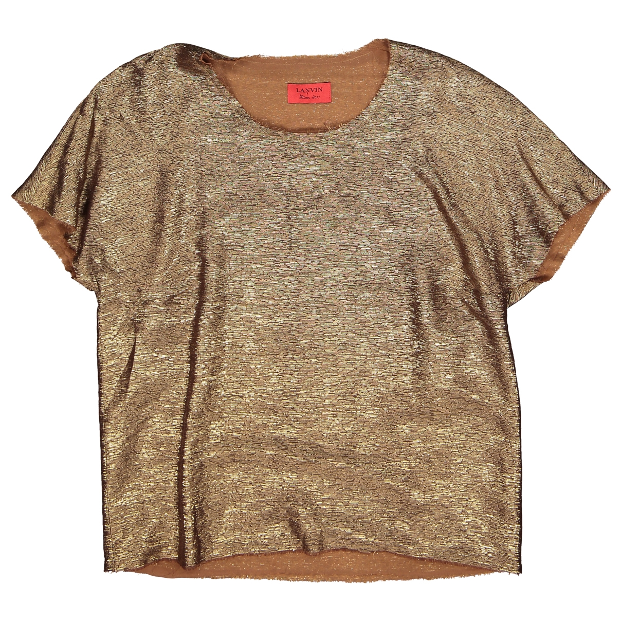 Lanvin \N Top in  Gold Viskose