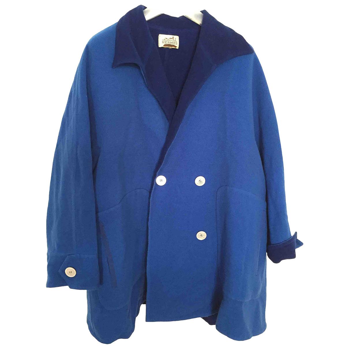 Hermès N Blue Wool coat for Women 40 FR