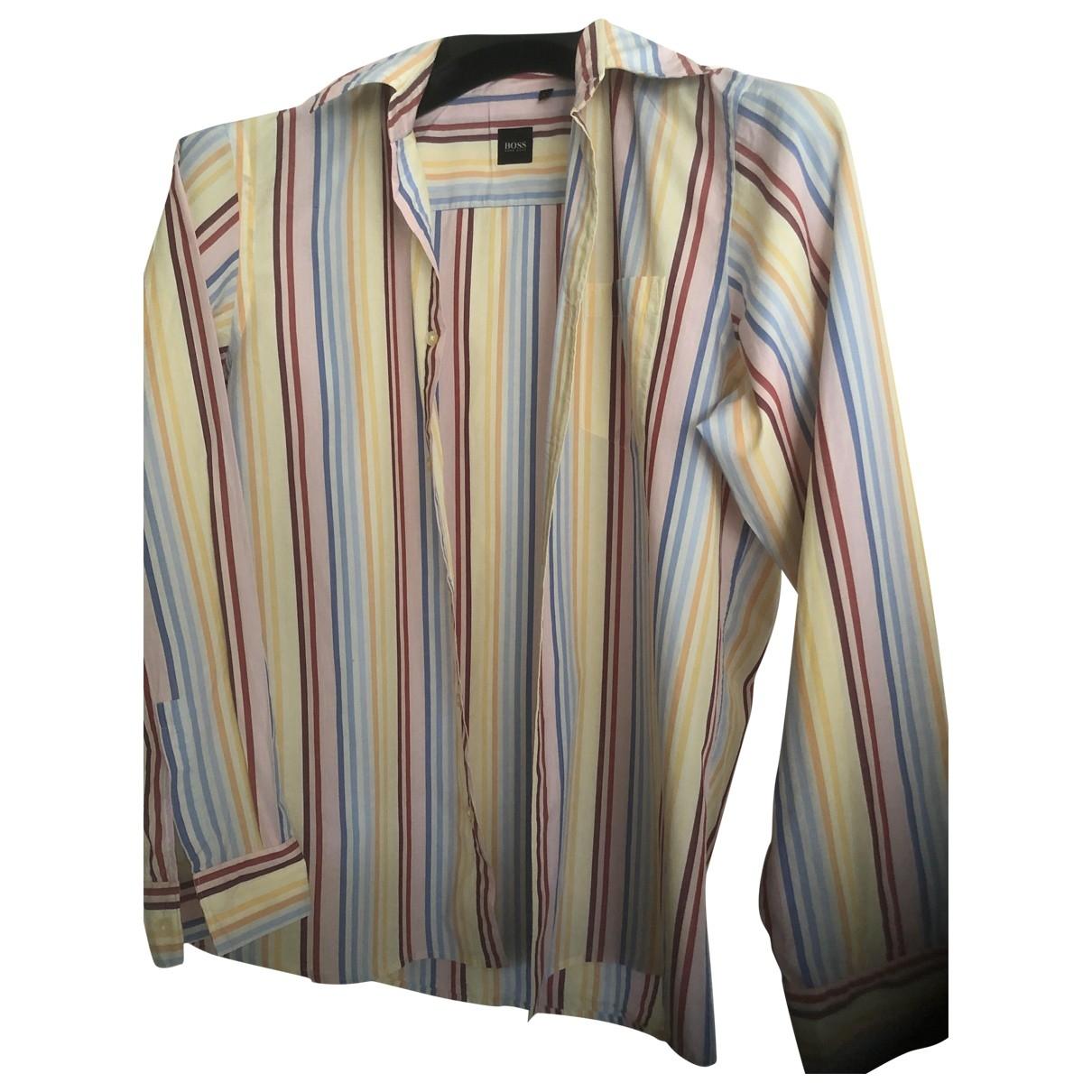 Boss - Chemises   pour homme en coton - multicolore