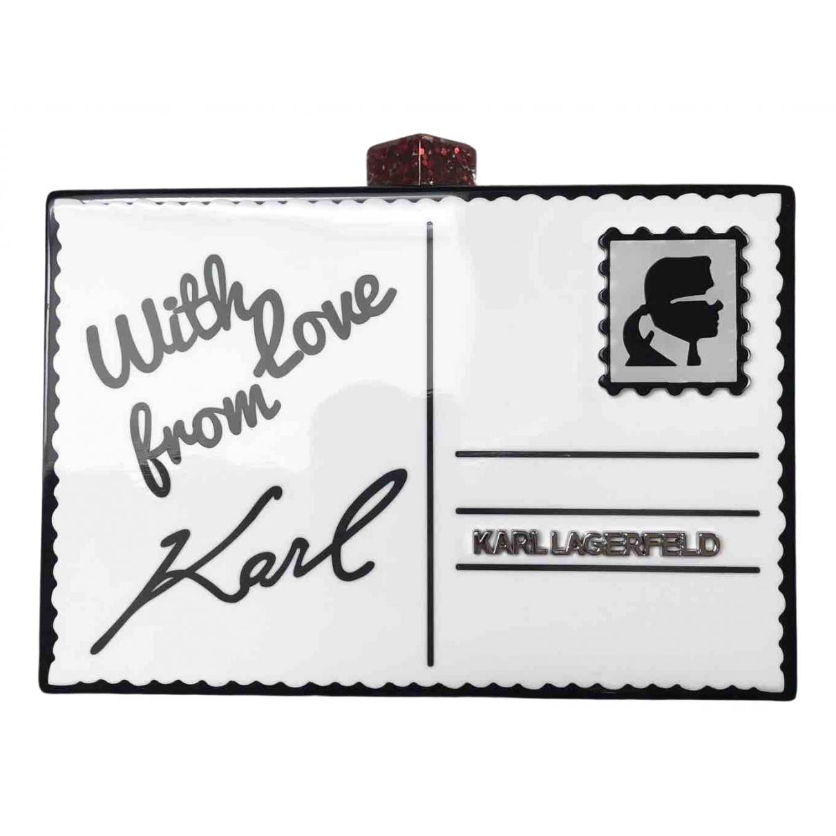 Karl Lagerfeld \N Clutch in  Schwarz Kunststoff