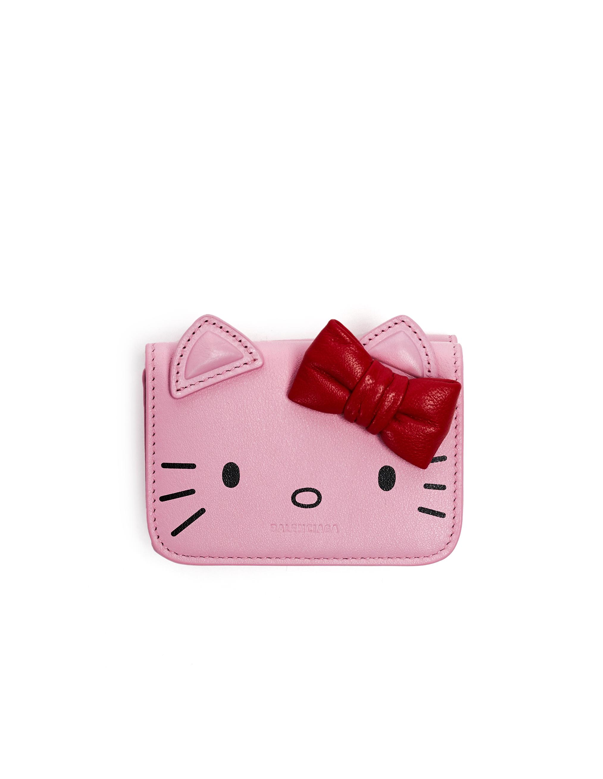 Balenciaga Pink Leather Hello Kitty Wallet