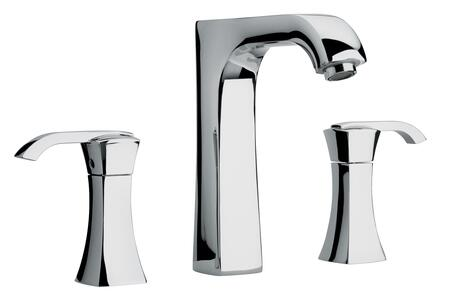11102-81 Two Lever Handle Roman Tub Faucet With Arched Spout  Brushed Nickel