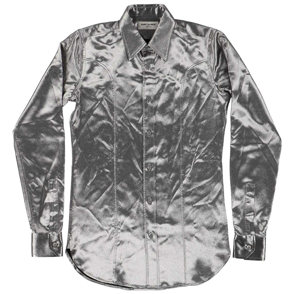 Saint Laurent - Chemises   pour homme en coton - argente
