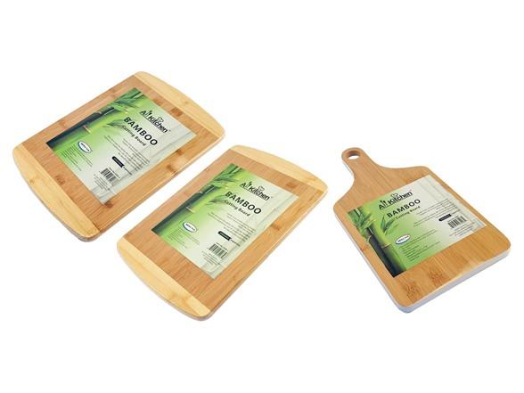 Bamboo Cutting Boards- 3-piece, Two Tone