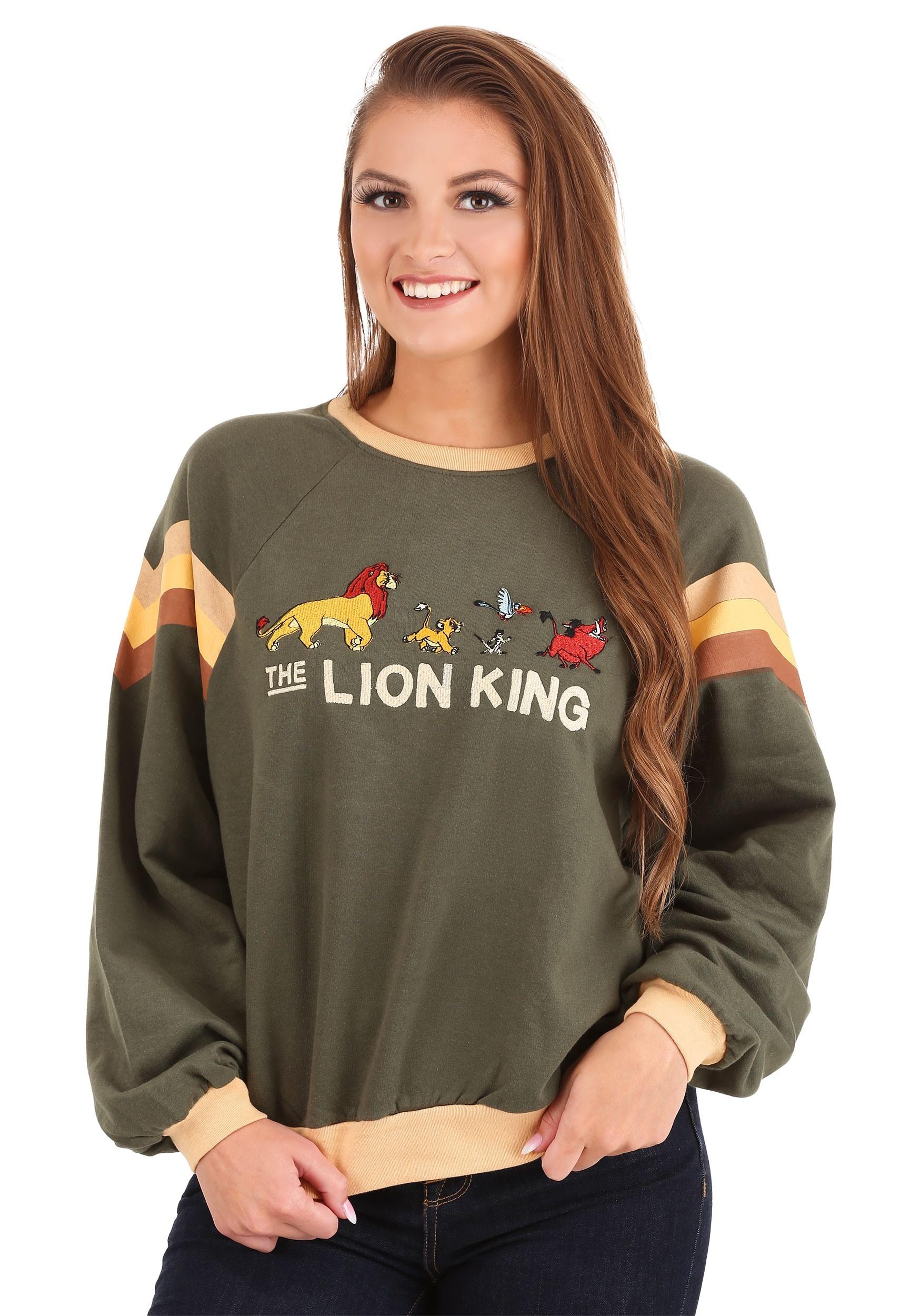 The Lion King Raglan Contrast Ringer Sweater for Women