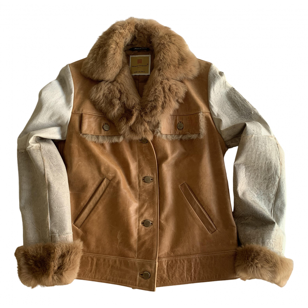 Non Signé / Unsigned \N Camel Leather jacket for Women M International
