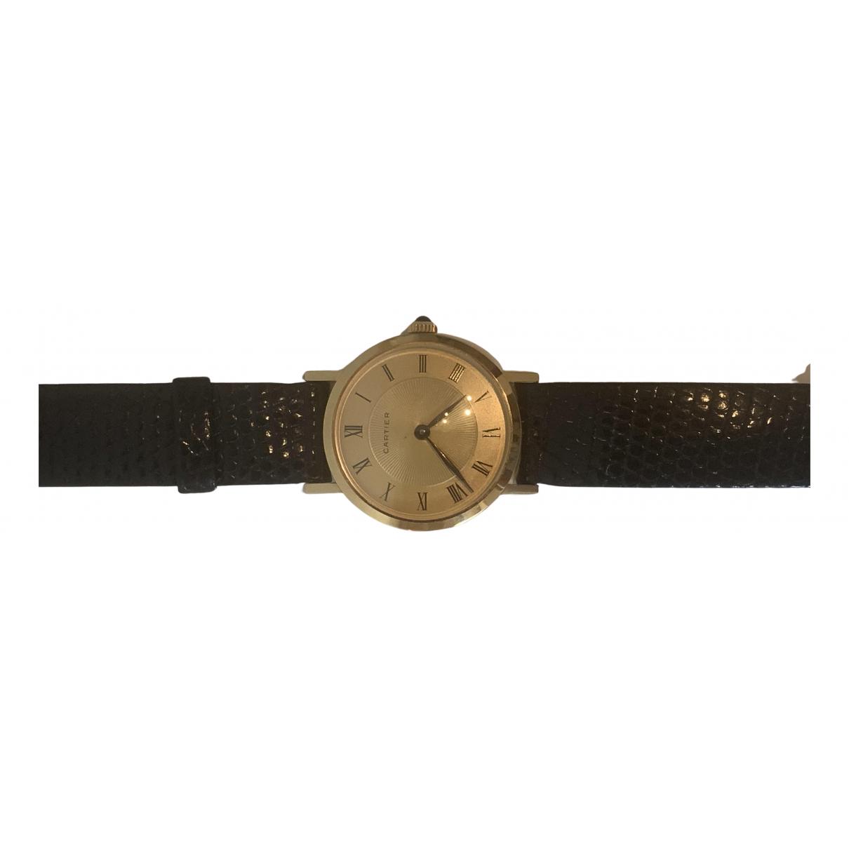Cartier \N Uhr in  Gold Gelbgold