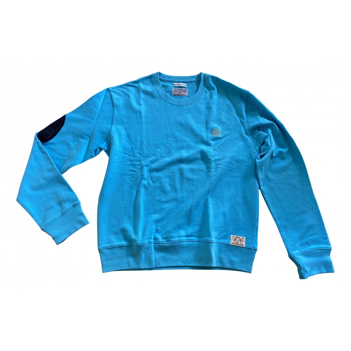 Evisu \N Pullover.Westen.Sweatshirts  in  Tuerkis Baumwolle
