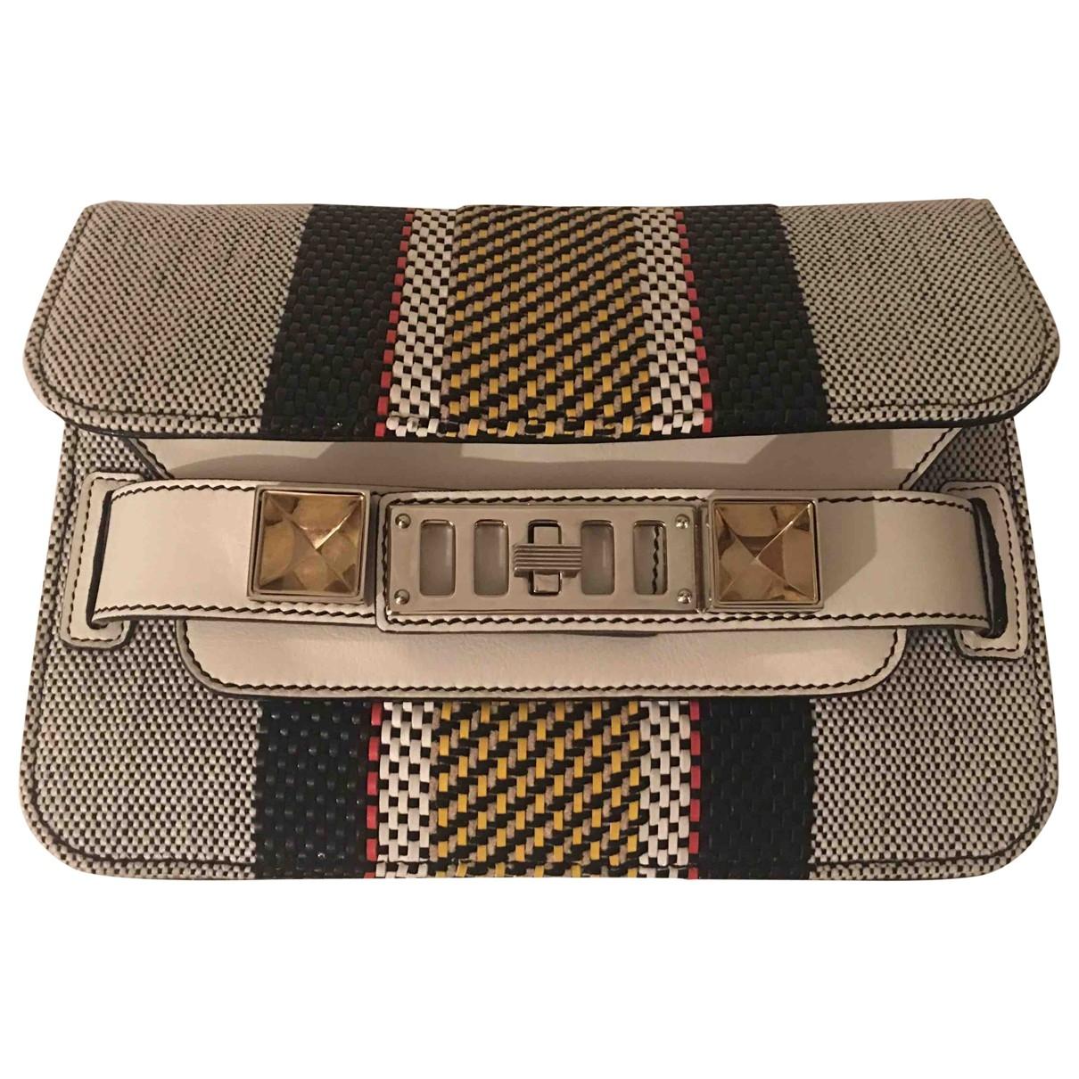Proenza Schouler PS11 Handtasche in  Grau Leder