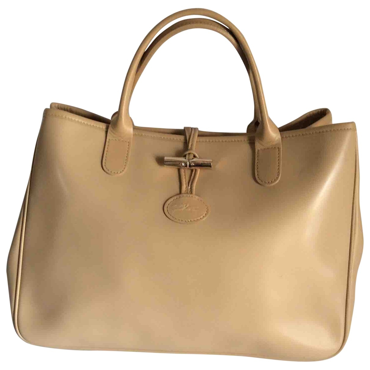 Longchamp \N Beige Leather handbag for Women \N