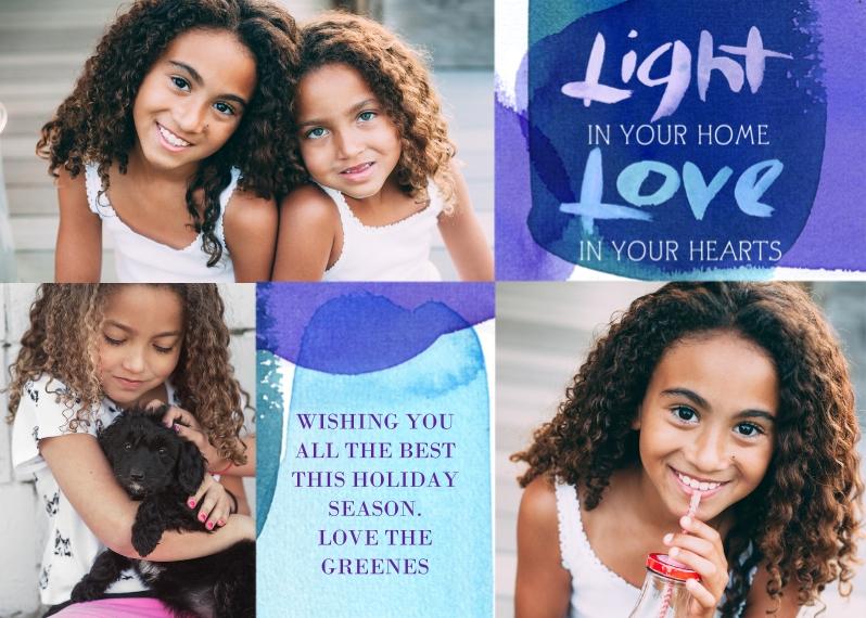 Hanukkah Photo Cards 5x7 Cards, Standard Cardstock 85lb, Card & Stationery -Light Love