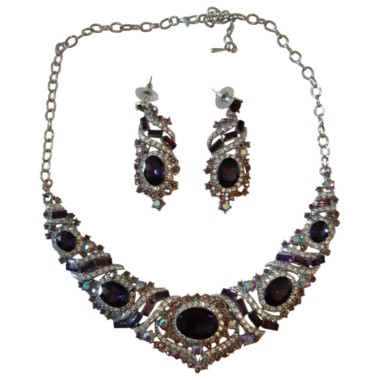 Non Signé / Unsigned \N White Steel Jewellery set for Women \N
