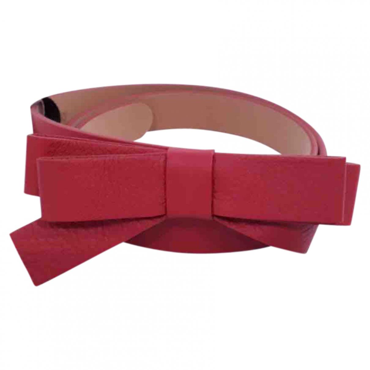 Red Valentino Garavani \N Red Leather belt for Women 70 cm