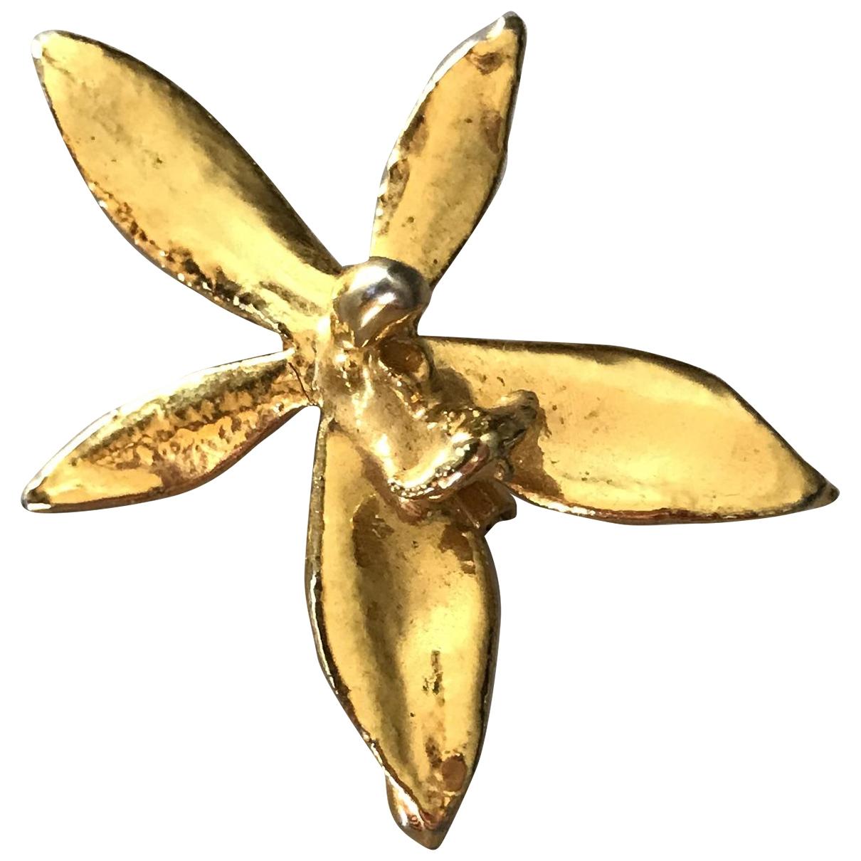 - Pendentif Motifs Floraux pour femme en plaque or - dore