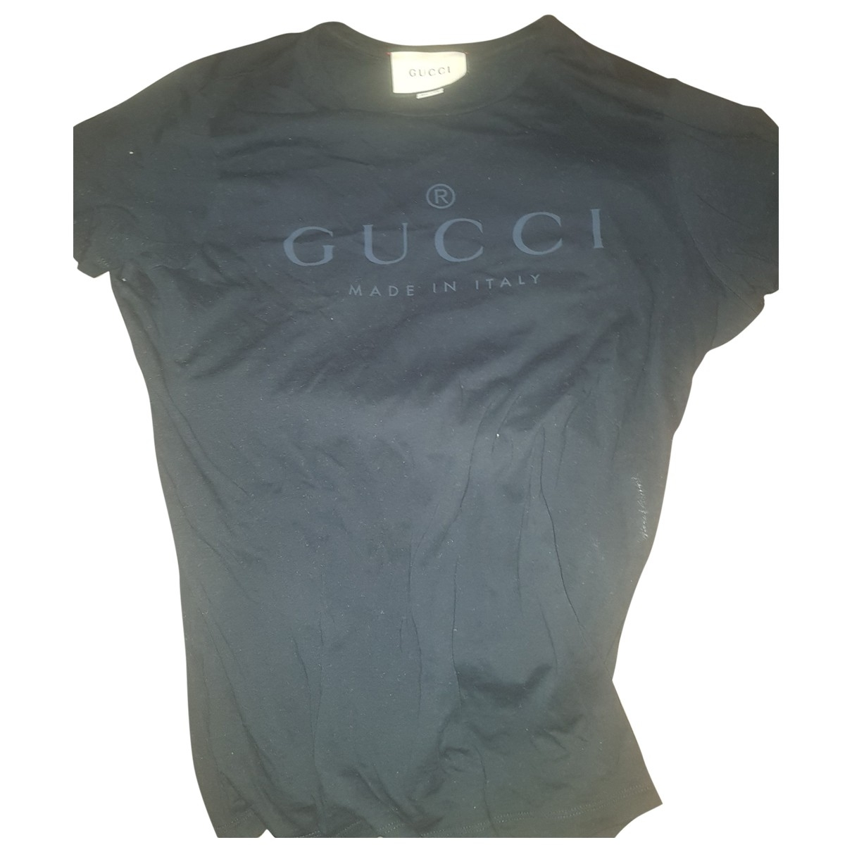 Gucci - Tee shirts   pour homme en coton - marine