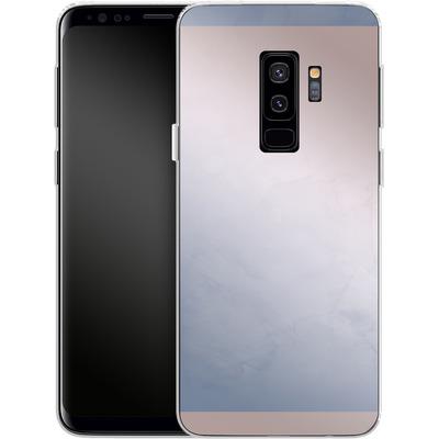 Samsung Galaxy S9 Plus Silikon Handyhuelle - Serenity Rose Quartz Geometry von Emanuela Carratoni