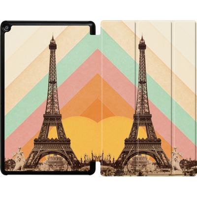Amazon Fire HD 10 (2018) Tablet Smart Case - Eiffel Tower Rainbow von Florent Bodart