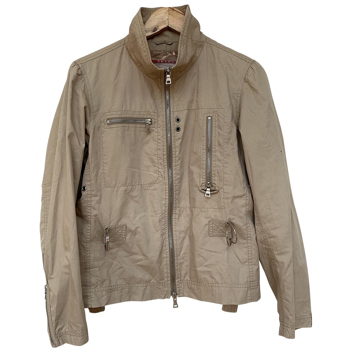 Prada \N Beige Cotton jacket for Women 10 UK