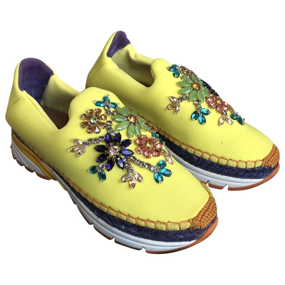 Dolce & Gabbana \N Yellow Trainers for Women 38 EU