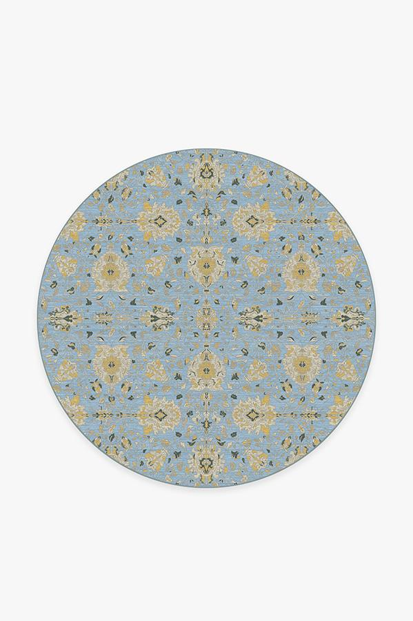 Washable Rug Cover & Pad   Marie Pale Blue Rug   Stain-Resistant   Ruggable   6' Round