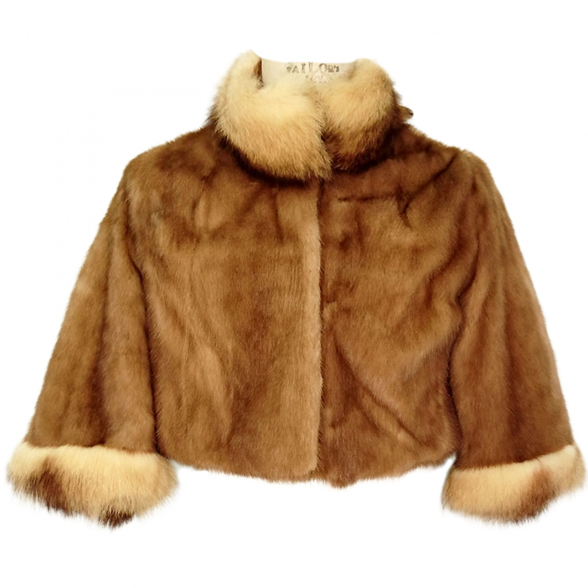 Non Signé / Unsigned \N Brown Mink jacket for Women 40 IT