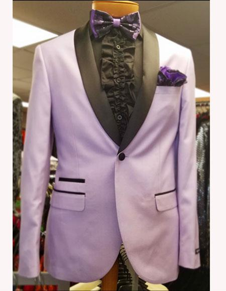 Mens Lavender ~ Lilact Tuxedo Shawl Suit Vested 3 Pieces