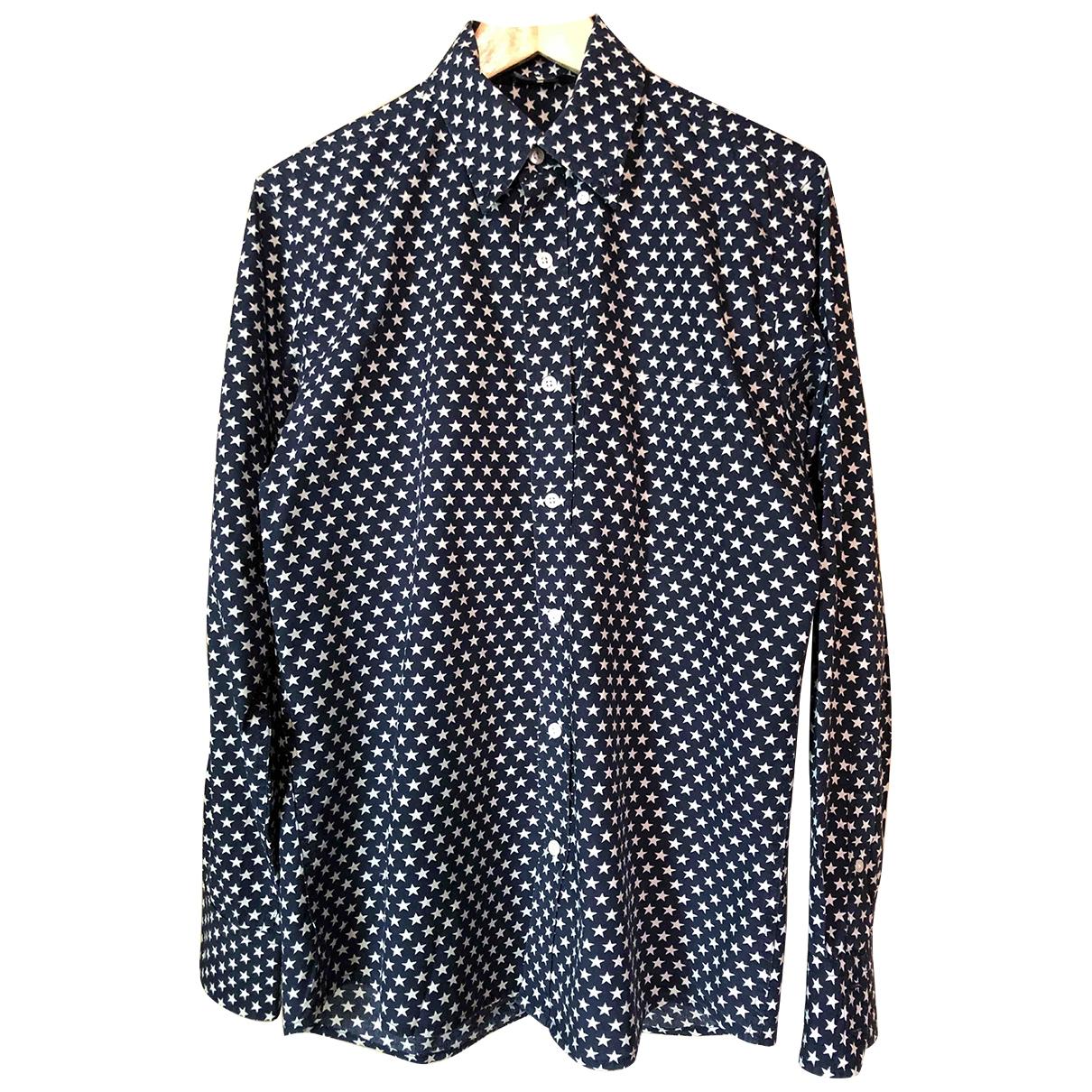 - Chemises Epaulettes pour homme en coton - bleu