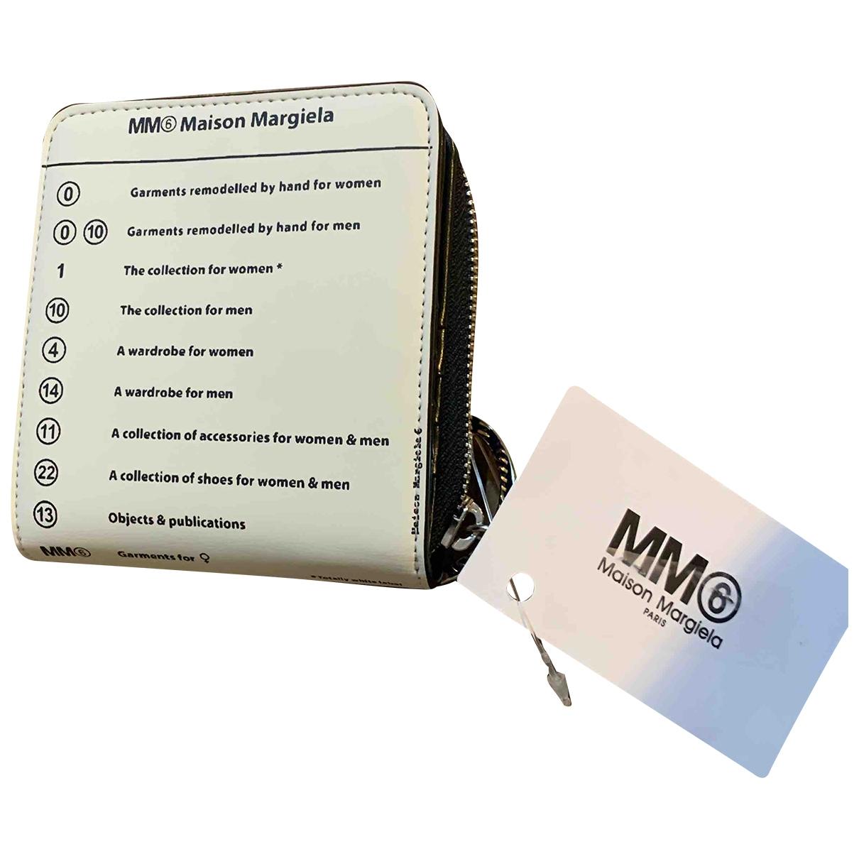 Mm6 \N Beige Leather wallet for Women \N