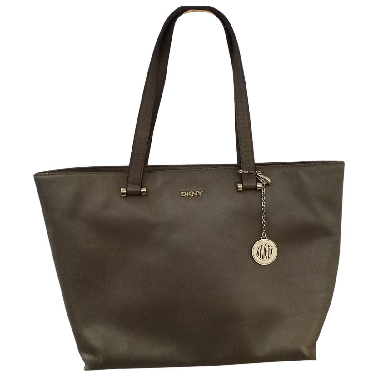Dkny N Brown Leather handbag for Women N