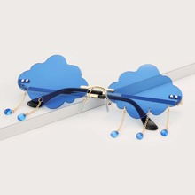 Cloud Shaped Rimless Sunglasses