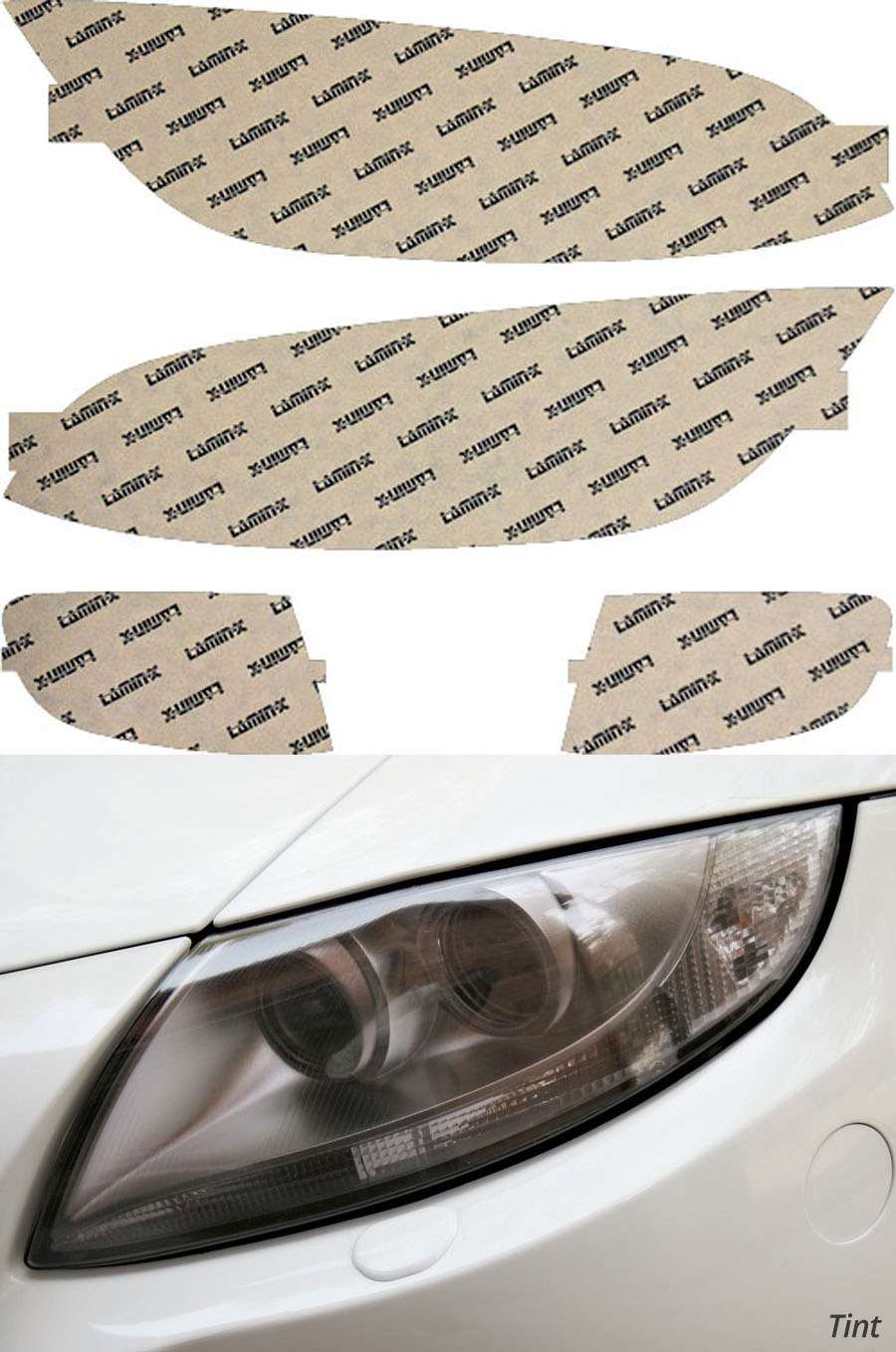 BMW 3-Series Coupe 07-10 Tint Headlight Covers Lamin-X B021T