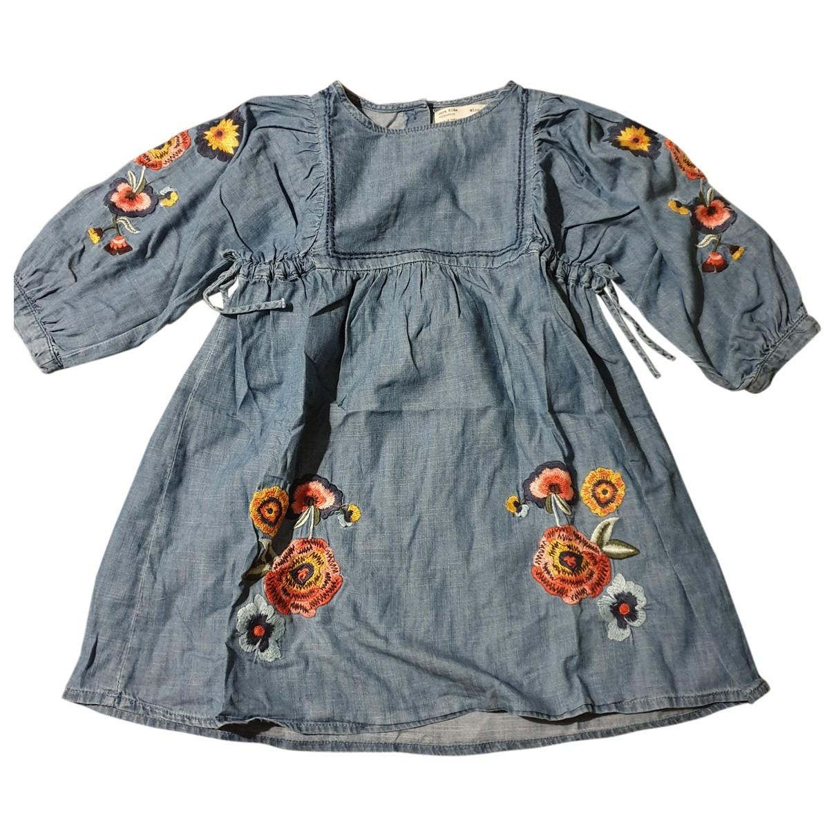 Zara \N Kleid in  Blau Denim - Jeans