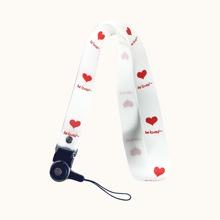Heart Print Lanyard