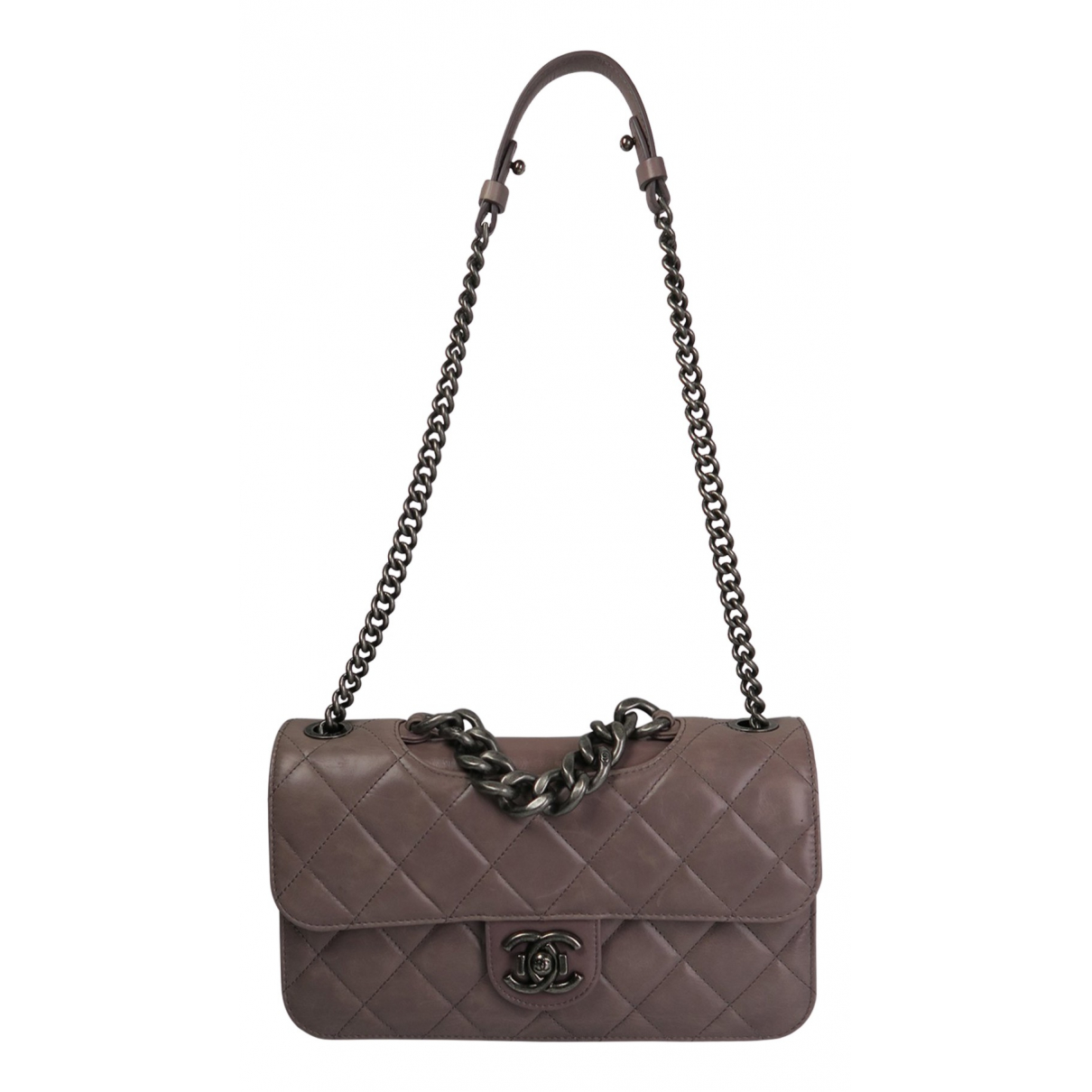 Chanel N Purple Leather handbag for Women N