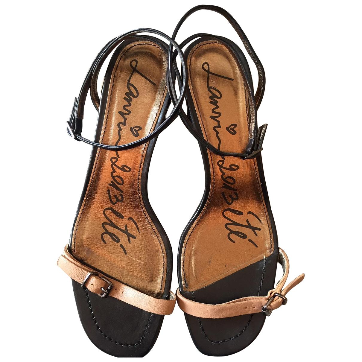 Lanvin - Sandales   pour femme en cuir - beige