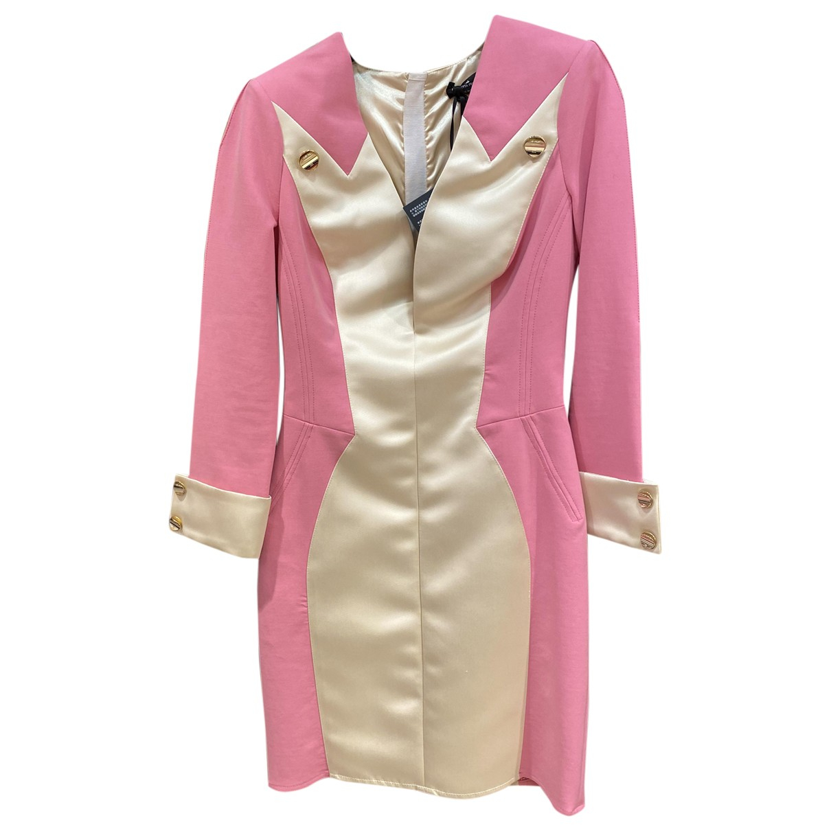 Elisabetta Franchi - Robe   pour femme en soie - rose