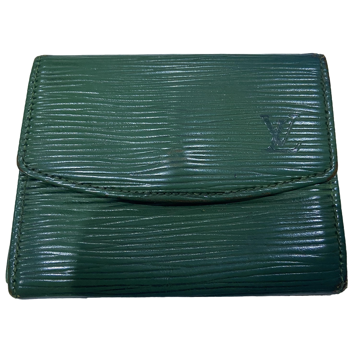 Louis Vuitton \N Green Leather Purses, wallet & cases for Women \N