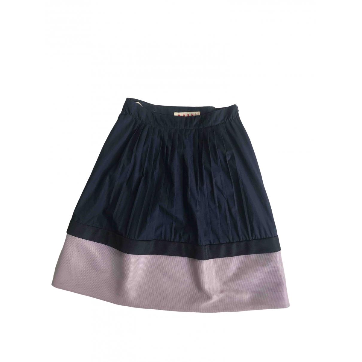 Marni \N Blue Cotton skirt for Women 42 IT