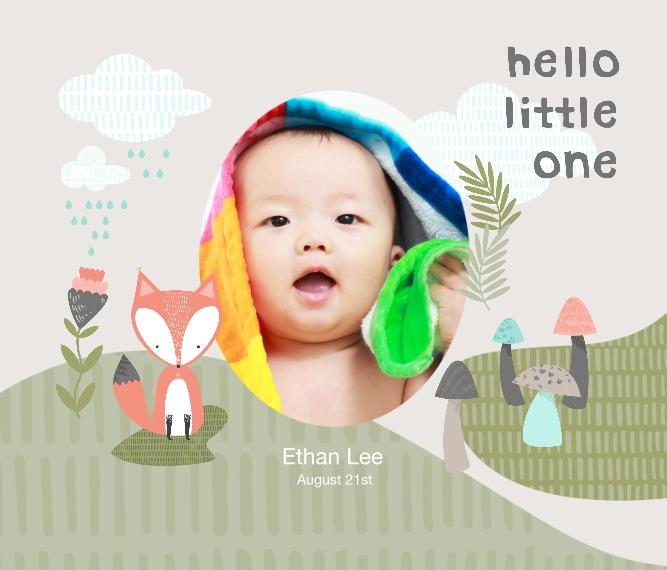 Baby + Kids Framed Canvas Print, Chocolate, 20x24, Home Décor -Little Fox