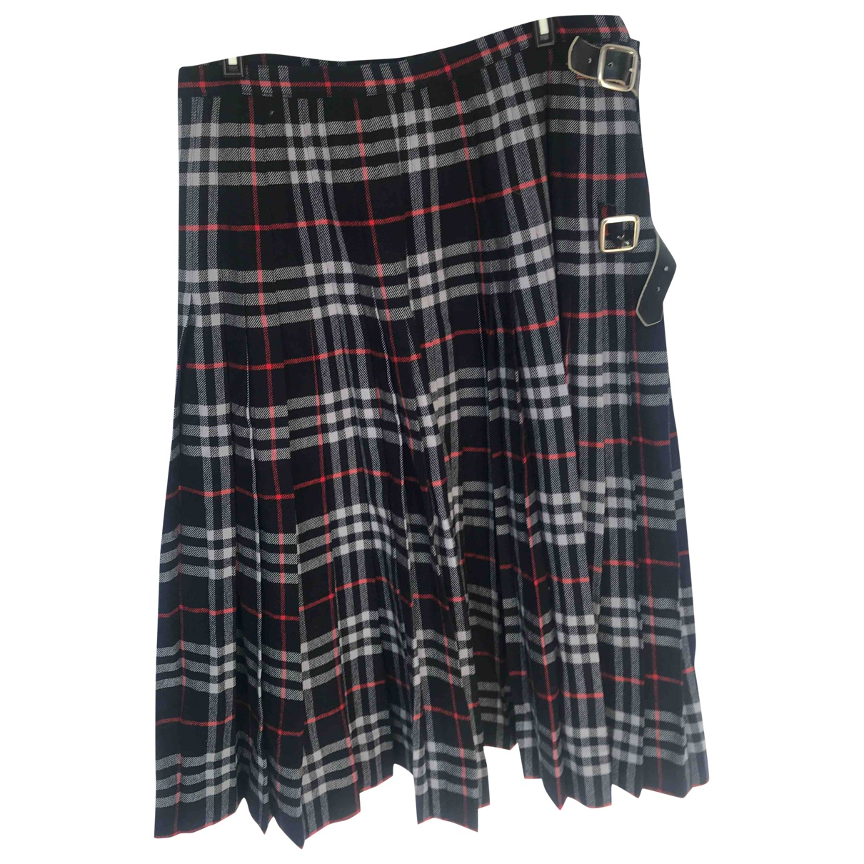 Burberry \N Navy Wool skirt for Women 42 FR